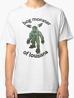 New Bog Monster Of Louisiana Men's T-Shirt White
