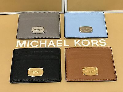 NEW Michael Kors Jet Set Travel Saffiano Leather Credit Card Holder $58 -$68