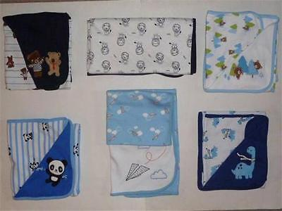 GYMBOREE Reversible Baby/Infant Boy Receiving Blanket 2 Styles One Size NEW