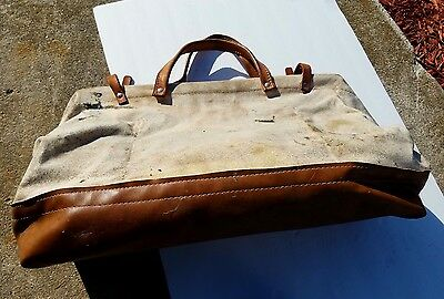 Bell Telephone System Canvas Buckingham Lineman Bag Trapping Bag Traps