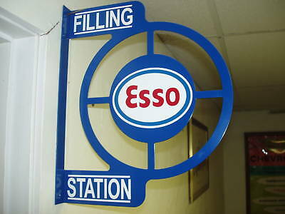 Esso Gas  50S Era Wall Mount Flange Advertising Sign