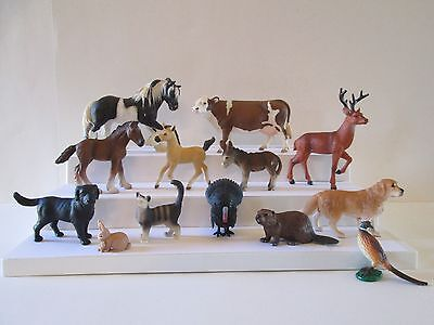 13 pc lot Schleich & other Brands Farm Animal Figures