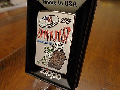 Stinkfest Bradford Pa Phew Outhouse Zippo Lighter Limited Edition 2015 98/100