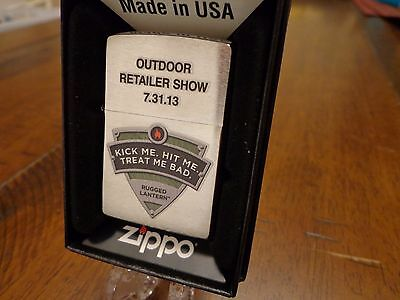 Outdoor Retailer Show 2013 Treat Me Bad Salesman Sample Zippo Lighter Mint