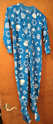 Boys or Girls Hanukkah Footed Pajamas Sleeper XS about a 5T