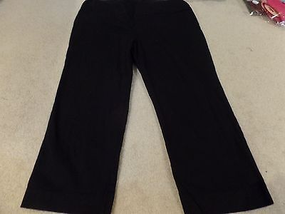 Women Maternity Capris, Motherhood, Black, Size:Medium, Excellent Condition
