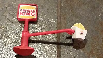 Vintage BURGER KING SUCTION SIGN with FRENCH FRY EXTENSION 1990's Fries Flawless
