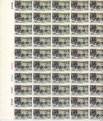USA-United States 1976 13c Postage Winter Pastime by N Currier Sheet Scot 1703..