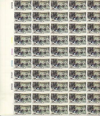 USA-United States 1976 13c Postage Winter Pastime by N Currier Sheet Scot 1703,