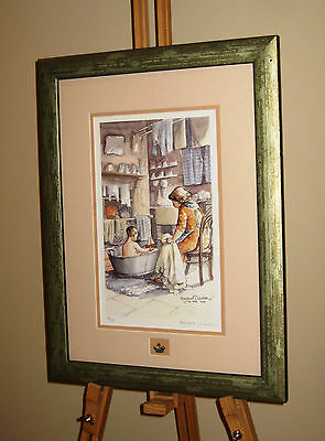 MARGARET CLARKSON Signed Limited Edition Print 'In The Tub' Northern Art