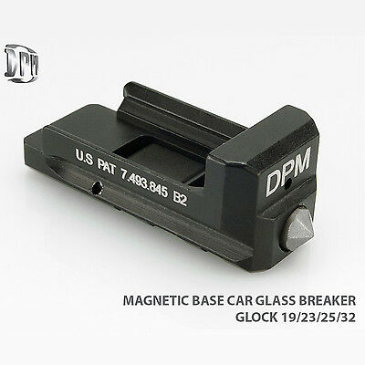 DPM Magnetic Base w/ Car Glass Breaker for GLOCK 19 23 25 32 38