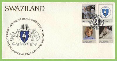 Swaziland 1982 Princess Diana Birthday set on First Day Cover
