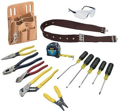 Klein Tools Electrician's Tool Set (14-Piece) Kit Electrical Screwdriver Pouch