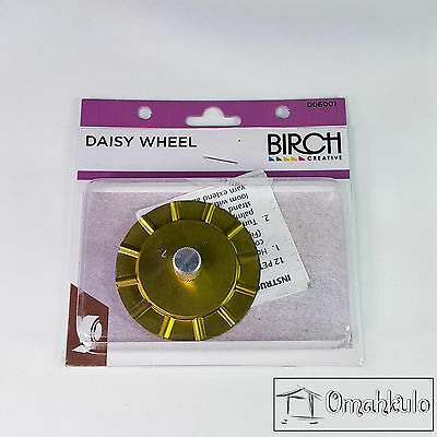 BIRCH - Daisy Wheel - For Knitting & Crochet - Making Daisies for Shawls etc  -*