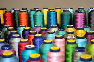 OVER 1 MILLION YARDS, 220 mostly full Large Spools of Robinson Anton Rayon