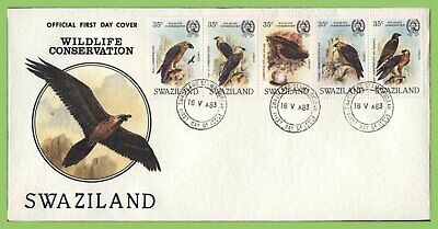 Swaziland 1983 Birds set on First Day Cover