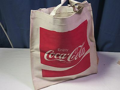 Canvas tote bag with Coca Cola logo