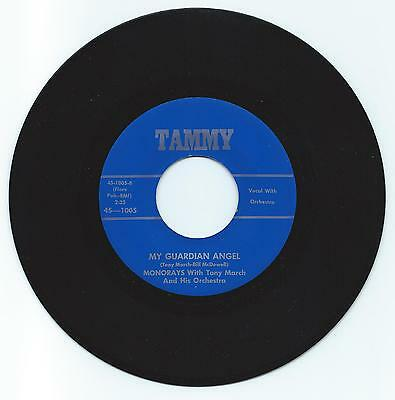 Doo Wop 45 The Monorays My Guardian Angel On Tammy  Vg+ Repro