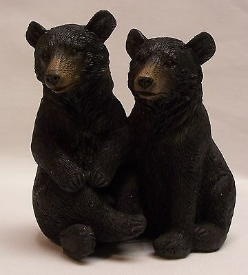 Black Bear Couple A Figurine Rustic Home/Cabin Decor (EAM)