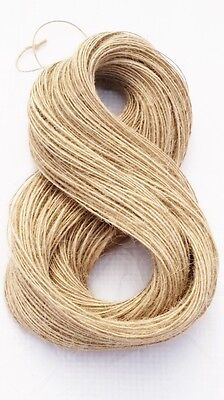1Ply 1m-1000m Natural Brown Soft Jute Twine Sisal String Rustic Shabby Cord