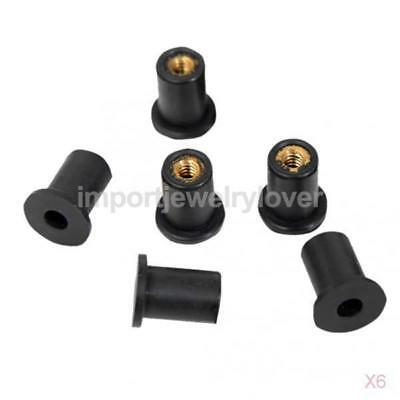 6x M5 Rubber Well Nuts Mounting Accessories for Kayak Motorcycle ( Pack of 6 )