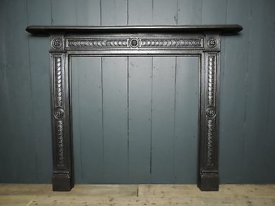 Original Antique Georgian / Regency Cast Iron Fireplace Surround