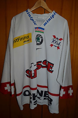 Switzerland National Team Ice Hockey Shirt Jersey Nike Swiss