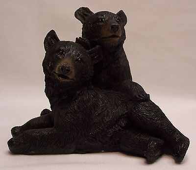 Black Bear Couple D Figurine Rustic Home/Cabin Decor (NAY)
