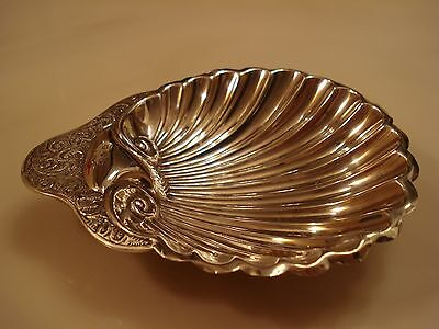 Antique Sterling Silver Ashtray Scalloped Shell Footed Candy Dish Birmingham 45g