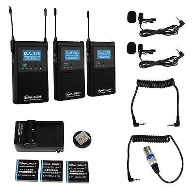 2.4GHZ Dual Channel Wireless Stereo Microphone for DSLR Camcorder  REDUCED