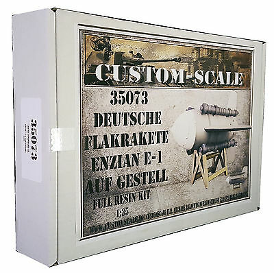 1:35 35073 Deutsche Flakrakete Enzian E-1 auf Gestell Resin Kit Custom-Scale
