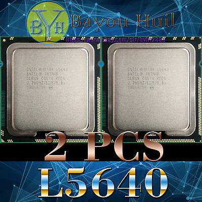 Matching pair_Intel Xeon L5640 LGA 1366 2.26 GHz 5.86 GT/s CPU Processor