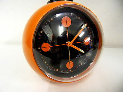 alter Kugelwecker Uhr orange Space Age Panton Eames - Meister Anker 70er Jahre