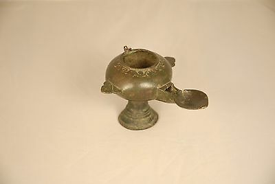 very old persian or ottoman oil lamp