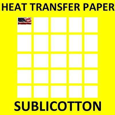 "SUBLICOTTON HEAT TRANSFER PAPER  100 PK 8.5""X11 Sublimation paper for Cotton"