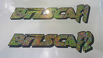 BRISCA F1 or BRISCA F2 stock car vinyl sticker logo glitter gold  black 190x50mm