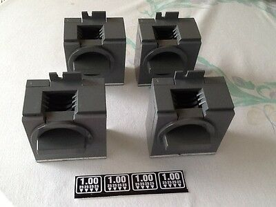 4 Antares Vending Snack Coin Mechanisms For  $1Use With 3 Hole Brackets & Decals