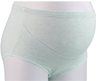 Maternity Underwear Panties Support Seamless Pregnancy Briefs Cotton Light Green