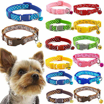 Best Pet Dog Puppy Cat Kitten Soft Glossy Reflective Collar Safety Buckle Bell