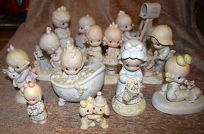 Lot Of 11 Enesco Precious Moments Porcelain Bisque Hand Painted Figurines MIB