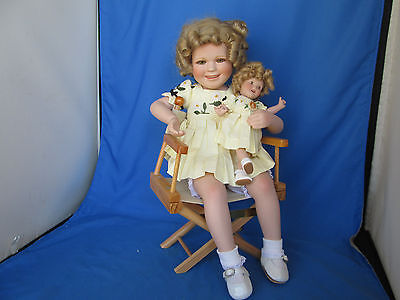 Rare 1998 Constance Shirley Temple Porcelain Doll With Doll in Director's Chair