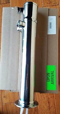 "Micro Matic 3"" Column Tower double Faucet Stainless with 1 Shank Adapter 3 Taps"