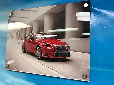 """Lexus IS250 IS350 F-Sport ***ACRYLIC FACE MOUNTED.. NOT DUMB CANVAS *  20"""" x 15"""""""