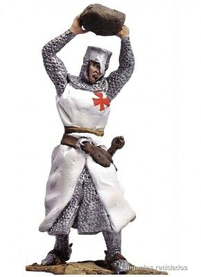 Tts042 Knight Templar Throwing A Stone Hobby Work Lead Soldier Plomo