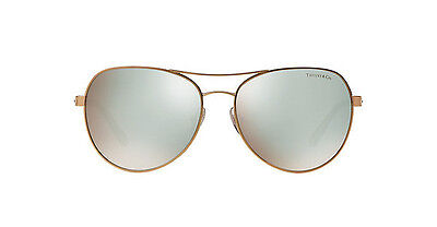 a17c9ec20bd NWT TIFFANY   CO Sunglasses TF 3051B 6105 64 Gold  Dark Brown Mirror 58mm