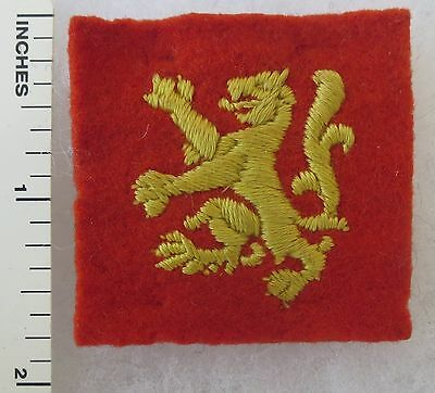 ORIGINAL Vintage BRITISH ARMY SCOTTISH TROOPS COMMAND FORMATION SIGN PATCH