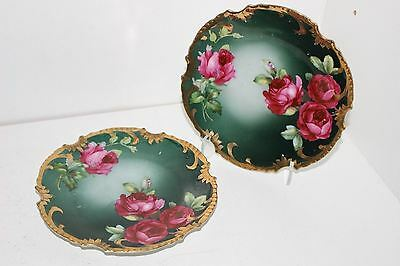 "2 Antique Z.s.&co Royal Munich Porcelain 6.25"" Cabinet Plates-Signed R.dufour"