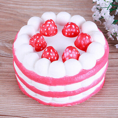 New 11CM Jumbo Squishy Strawberry Cake Scented Super Slow Rising Kids Toy Soft