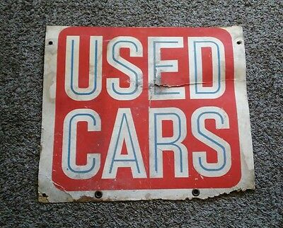 Vintage 1930s Used Car Sign Cardboard Advertising Rare Automobile History