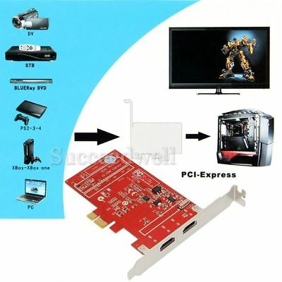 YK761H YK762H YK918H PCI-E 720P/1080i HD Video Capture Box Card For PS4 Xbox